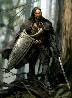 Boromir, brother of Faramir, in fine art, by Justin Sweet.