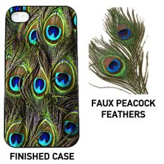 #DIY feather iPhone Case: All you need is a clear plastic case and some faux craft feathers!