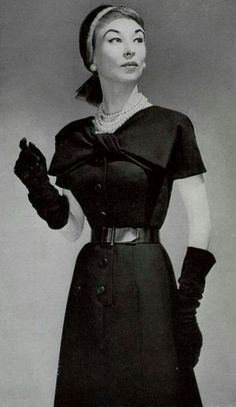 Bow front dress pencil 50s