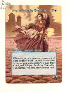 Rayne, Academy Chancellor - MTG Alter - Revelen's Light Altered Art Magic Card #WizardsoftheCoast
