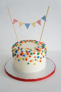 The Welch Cupcakery: Polka Dot Smash Cake
