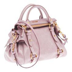 d2f8db488aa6 Miu Miu Vitello Lux Top Handle Bag in Light Pink gahhh! I must make you  mine