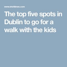 The top five spots in Dublin to go for a walk with the kids