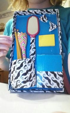 Duct tape locker organizer all credit goes to sophies world on YouTube