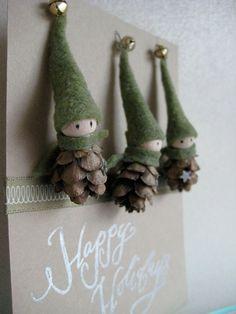 tiny pinecone elf ornaments