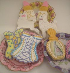 Girly cookies corsets perfume bottles