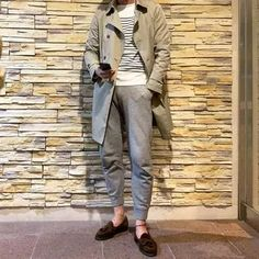 Men's Outfits 2021 | Lookastic Olive Chinos, Black Chinos, Navy Shawl, Stylish Outfits, Men's Outfits, Beige Jeans, Black Leather Biker Jacket, Rugged Style, Desert Boots