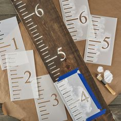 Farmhouse Sign Stencils for Painting on Wood Sign Stencils, Free Stencils, Height Ruler, Growth Chart Wood, Growth Chart Ruler, Growth Charts, Pottery Barn Inspired, Sign Maker, Diy Workshop