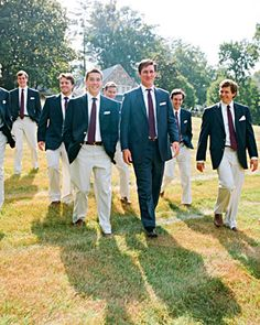 These groomsmen are outfitted perfectly for this rustic farm venue
