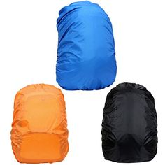 3Pcs 35L Waterproof Backpack Rain Cover RuiyiF Rucksack Nylon Dust Rain Cover for Hiking Camping Climbing Backpacking  Black Orange Blue *** Continue to the product at the image link.