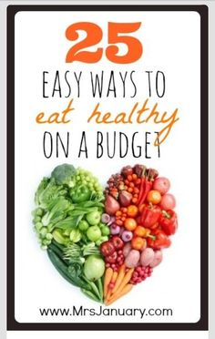 25 Easy Ways To Eat Healthy On A Budget...