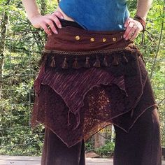 Forest Nymph adjustable bustle skirt by FamilyofLightDesigns on Etsy