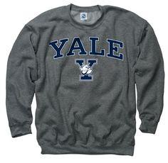 Yale Bulldogs Dark Heather Perennial II Crewneck Sweatshirt