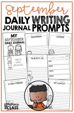 No Prep Daily Journal Writing Prompts for September! This pack includes writing stationery paper for the month of September. It is packed with prompts that will help kids generate LOTS of ideas what to write about. It also includes several seasonal acrostic poetry options. Create a monthly writing portfolio for each student! K-3 #journals #writingprompts #writing #kindergartenwriting #1stwriting #2ndwriting #fall #education #noprep #backtoschool Journal Writing Prompts, Writing Prompts For Kids, Writing Activities, Poetry Journal, Daily Journal, 30 Day Writing Challenge, Creative Writing Inspiration, Writing Checklist, Writing Portfolio