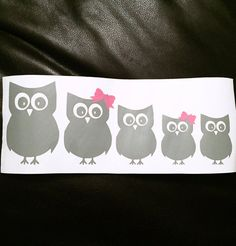 Owl Family Car Decals Custom Family Car by CarolinaDesignStudio
