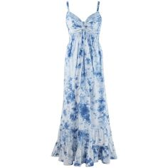 Simply Be Joanna Hope Tie Dye Maxi Dress ($90) ❤ liked on Polyvore featuring dresses, gowns, long dresses, maxi dress, gown, blue gown, beaded evening gowns, long maxi dresses and beaded maxi dress
