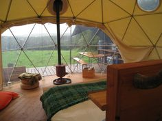 Geodesic dome cabin/tent.