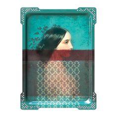 ibride - Galerie De Portraits - Großes rechteckiges Tablett - IDA - 6 Jetzt bestellen unter: http://www.woonio.de/produkt/ibride-galerie-de-portraits-grosses-rechteckiges-tablett-ida-6/