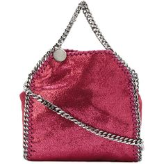 Stella McCartney tiny Falabella tote (17.225.190 VND) ❤ liked on Polyvore featuring bags, handbags, tote bags, pink, tote purses, pink cross body purse, pink tote bags, red tote bag and pink crossbody purse