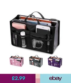 Women S Bags Handbags Lady Organizer Handbag Travel Bag Insert Liner Purse Organiser Large Tidy