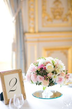 Short Pink and White Centerpiece | photography by http://oneandonlyparisphotography.com/