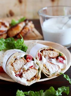 Chicken Ranch Wrap nebeneinander