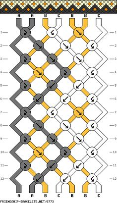7 strings 12 rows 3 colors