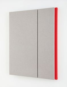 Quiet Gray with Red Reverberation Acoustic absorber panel and acrylic paint on canvas 48 x 38 inches, Jennie C. Modern Art, Contemporary Art, Acoustic Panels, Acrylic Painting Canvas, Geometric Art, Cool Art, Minimalism, 2d Design, Sculpture