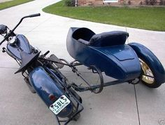 sidecar built by Flxible Trike Motorcycle, Motorcycle Design, Bike Design, Vintage Motorcycles, Custom Motorcycles, Cars And Motorcycles, Motorized Big Wheel, Bike With Sidecar, Scooters