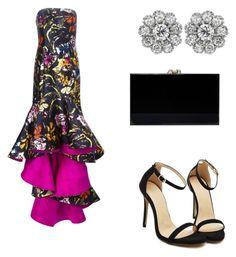 """Beautiful Oscar De La Renta Gown"" by weavingmaidenbdayseptember21st ❤ liked on Polyvore featuring Oscar de la Renta and Charlotte Olympia"