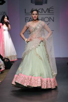 Lengha by Anushree Reddy. Lakme Fashion Week 2014 // Available to BIBI London // Contact@bibilondon.com for more info