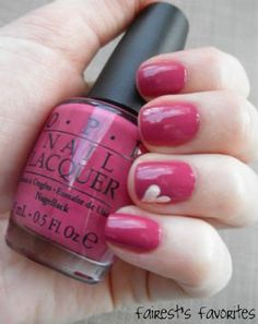 Valentines Day Nail with ♥'s