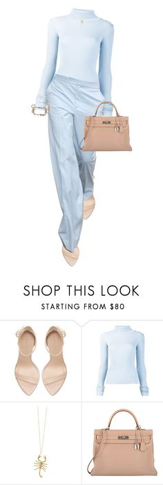 """""""I must be willing to give up what I am in order to become what I will be."""" by quiche ❤ liked on Polyvore featuring Zara, Jacquemus, Jennifer Fisher, Hermès and Alexis Bittar"""