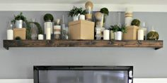 How to turn a floating IKEA shelf into a stunning Pottery Barn style picture ledge for just a few bucks. @Remodeholic