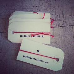 DIY business cards from reddoorfurnitureco.com