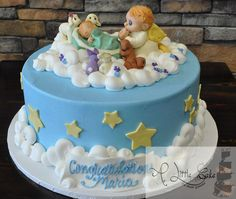Angel Themed Baby Shower Cake