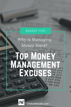 Do you think managing money is hard? Learn common money management excuses, budgeting tips, personal finance tools, free money apps and financial services. Ways To Save Money, Money Tips, Money Saving Tips, Finance Blog, Finance Tips, Managing Your Money, Make Money Blogging, Budgeting Tools, Money Management