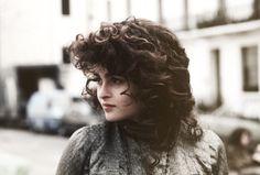 Helena Bonham Carter on the set of Howards End | 1991