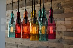 10-Light Modern Recycled Bottle Chandelier The by MoonshineLamp