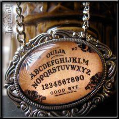 SIlver Ouija Board Pendant Necklace