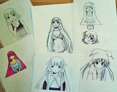Old drawings.
