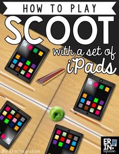 Playing Scoot on the iPad - a technology twist on a classic whole group movement…