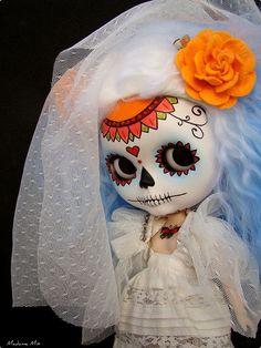 Blythe Custom Calavera by ***MADAME MIX***, via Flickr