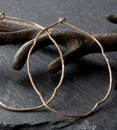 Rustic Gold Hoop Earrings #Jewelry #Earrings