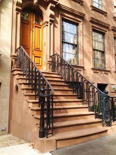 Pretty brownstone architecture