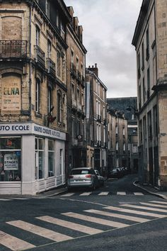 Nantes street. Beautiful architecture and streets