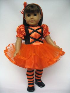 "American Girl 18"" Doll Halloween Costume. Inspiration."