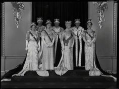 one more blog about royals:  Royal Family after the Coronation of King George VI-front:  Duchess of Gloucester, Princess Royal, Queen Mary, Duchess of Kent; back-Earl of Harewood, Duke of Gloucester, Duke of Kent