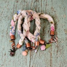 Check out this cute DIY and learn how to make a bracelet from a vintage hanky.