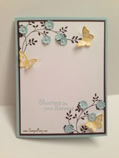 Sympathy with Butterflies by Creative Mary - Cards and Paper Crafts at Splitcoaststampers